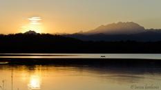 Tramonto magico - lago di Varese